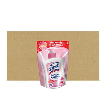 Caja Jabon liquido Skincare - Doypack - Lysol - 12 Unidades -  220ml