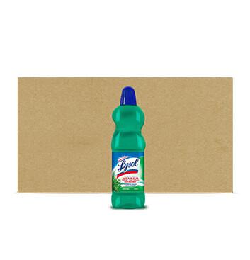 Caja Desinfectante  para pisos aroma Pino - Lysol  - 18 Unidades - 1000ml