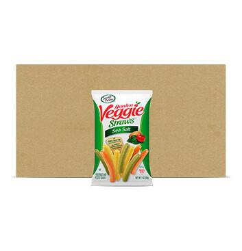Caja Garden Veggie Straws Sea Salt - 6 Unidades - 77g
