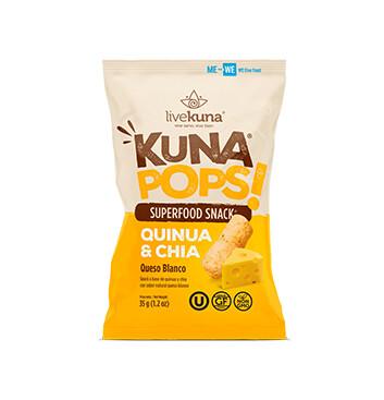 Kuna Pops Livekuna Quinoa y Chia Queso Blanco - 35g