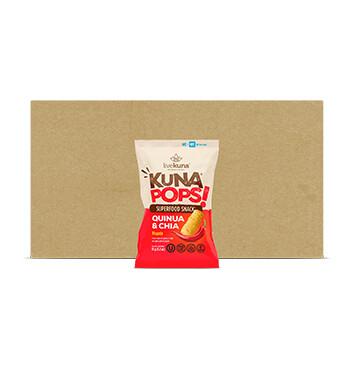 Caja Kuna Pops Livekuna Quinoa y Chia Chile Picante - 12 Unidades -  35g