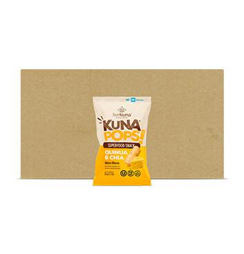 Caja Kuna Pops Livekuna Quinoa y Chia Queso Blanco - 12 Unidades - 35g