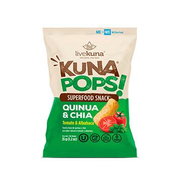 Kuna Pops Livekuna Quinoa y Chia Tomate y Albahaca - 35g