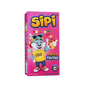 Sipi Tetrapack - 200 ml - Sabor Fruit Punch