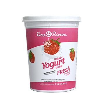 Yogurt batido - Dos Pinos -  1 Kilo - Sabor Fresa