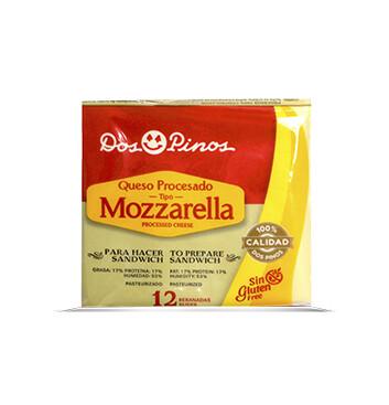 Queso Procesado Mozzarella Blanco - 12 rebanadas - Dos Pinos - 192g