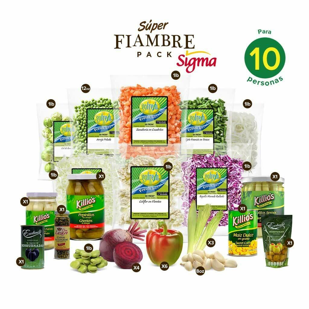 Súper Fiambre Pack! Sigma® - 10 Personas