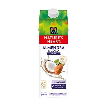 Bebida Almendra Coco - Sin Azucar - Natures Heart - 946 ml