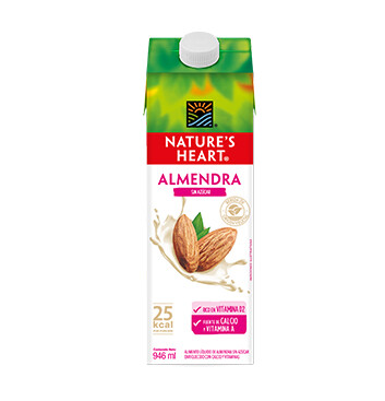 Bebida  Almendra - Sin Azucar - Natures Heart - 946 ml