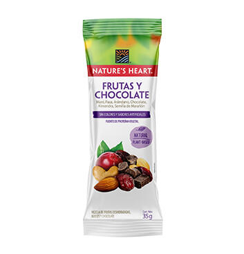 Snack Mezcla Frutas y  Chocolate - Natures Heart - 35g