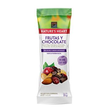 Snack Mezcla Frutas y Chocolate - Natures Heart - 35g