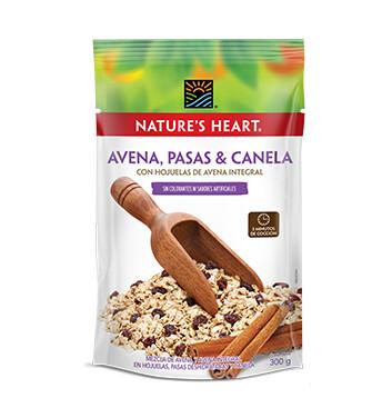 Avena Pasa Canela - Natures Heart - 300 g