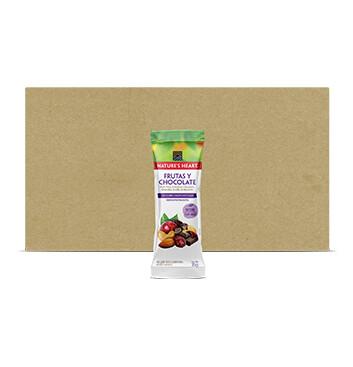 Caja Snack Mezcla Frutas y Chocolate - Natures Heart - 24 Unidades - 35g