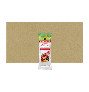 Caja Snack Mezcla NuttyBerry - Natures Heart - 24 Unidades - 35g