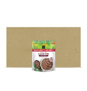 Caja Natures Heart Cacao Nibs Organic Raw Bolsa 10 x100g