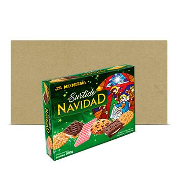 Fardo Surtido Navideño de galletas - La Moderna - 20 Unidades - 227g