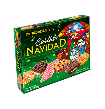 Surtido Navideño de galletas - La Moderna - 227g
