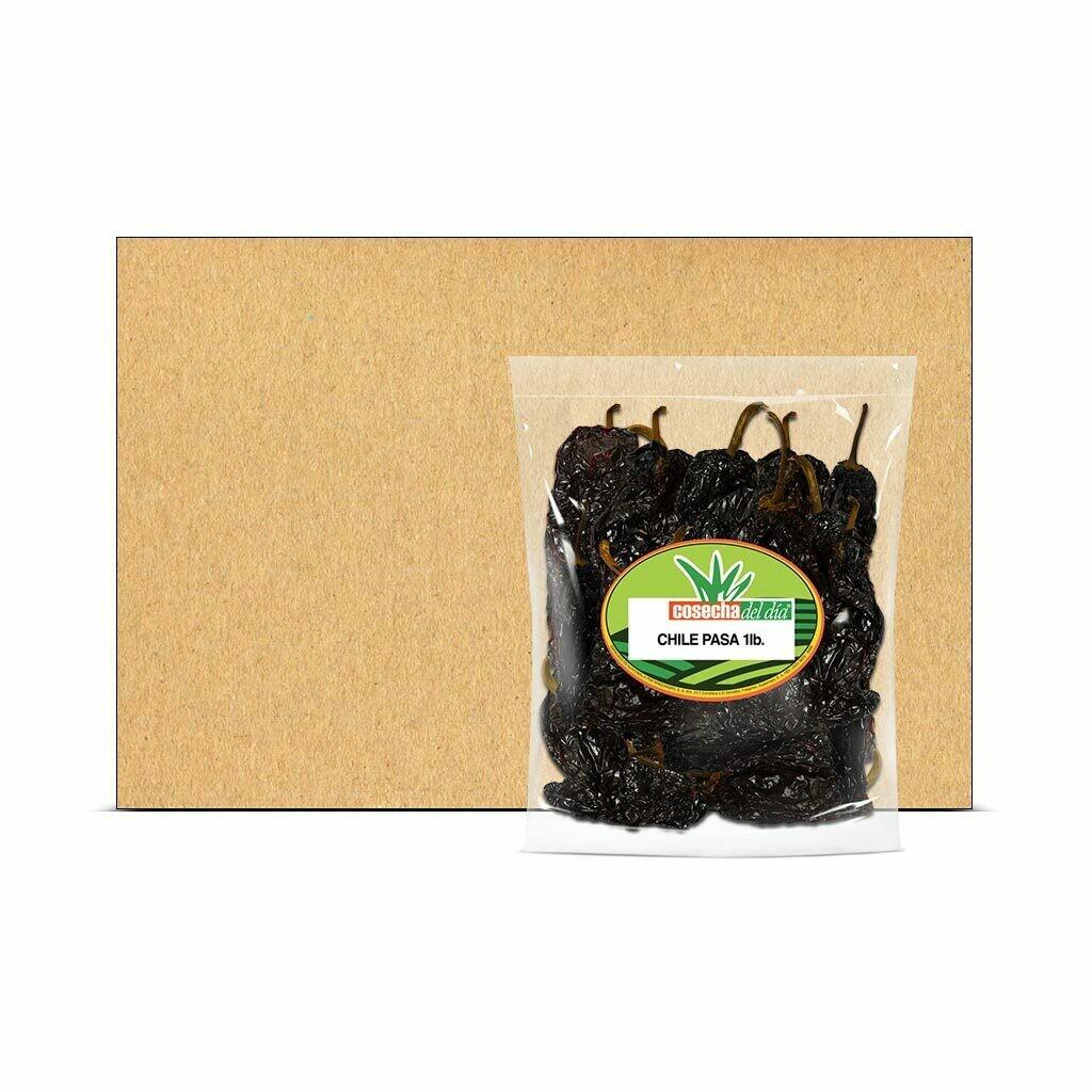 Caja con Bolsas de Chile Pasa - Selección del Chef® - 25 Libras