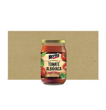 Caja Salsa Tomate Albahaca - Kerns - 12 Unidades - 425 g