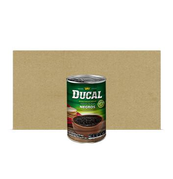 Caja Frijol Negro Entero - Ducal - 24 Unidades - 15 oz/lata