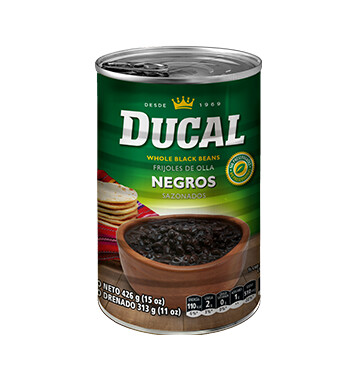Frijol Negro Entero - Ducal -15 oz/lata