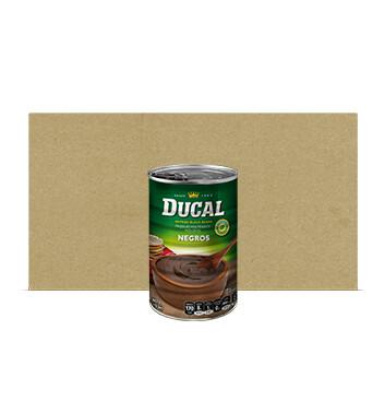 Caja Frijol Negro volteado - Ducal - 24 Unidades - 15 oz/lata