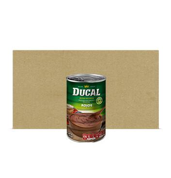 Caja Frijol Rojo volteado - Ducal - 24 Unidades - 15 oz/lata