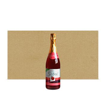 Caja con Botellas de Sidra Sidral® Sin alcohol - Sabor Manzana Rosada - 12x750ml