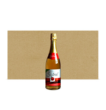 Caja con Botellas de Sidra Sidral® Sin alcohol - Sabor Manzana Tradicional - 12x750ml