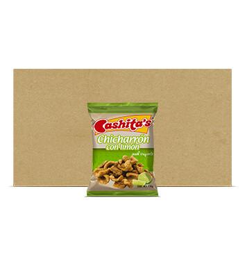 Caja Chicharron con Limón - Cashitas - 25 Unidades - 110g