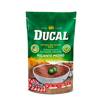 Frijol Rojo volteado picante - Ducal - 8oz