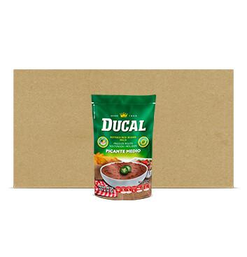 Caja Frijol Rojo volteado picante - Ducal - 24x8oz