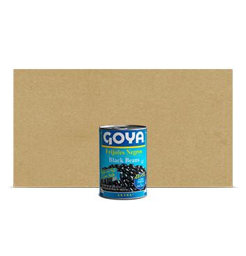 Caja Frijol Negro bajo en sodio - Goya - 24 Unidades - 439g