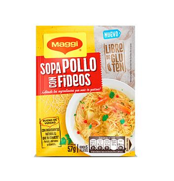 Sopa Pollo con Fideo - Sin Gluten - Maggi - 57g