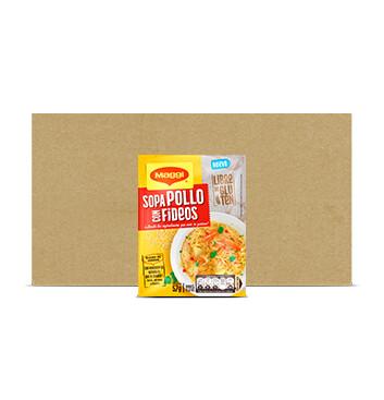 Caja Sopa Pollo con Fideo - Sin Gluten - Maggi - 12 Unidades - 57g