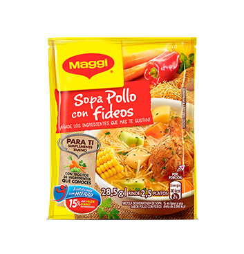 MAGGI® - Sopa de Pollo con Fideos - Sobre 57g