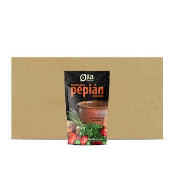 Caja Recado para Pepián colorado - La Olla Chapina - 16 Unidades -  14oz
