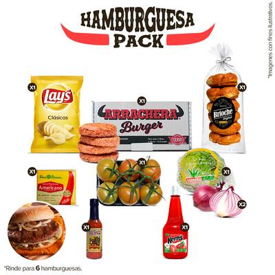 Pack Hamburguesa Entraña Arrachera (6 Personas)