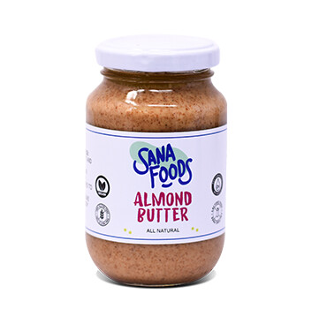Mantequilla a base de Almendra - sin azúcar - Sana Foods - 250g