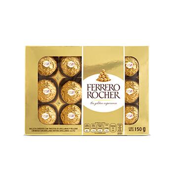 Bombones de chocolate y avellana -  Ferrero Rocher T12 - 150g