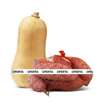 Calabaza Butternut Squash - Cosecha del Día - Mediano - Unidad + Red camote baby 2lb