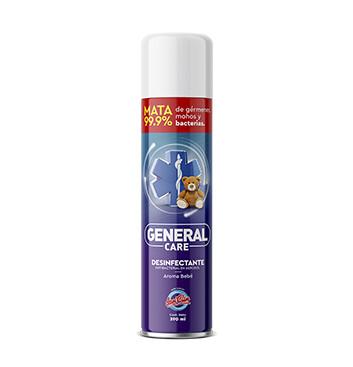 Desinfectante Antibacterial en aerosol - General Care - 390ml - Aroma a Bebe