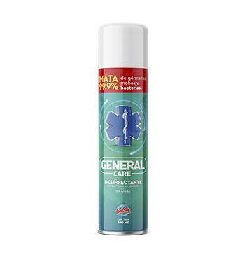 Desinfectante Antibacterial en aerosol - General Care - 390ml - Sin olor