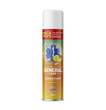 Desinfectante Antibacterial en aerosol - General Care - 390ml - Aroma Citrus