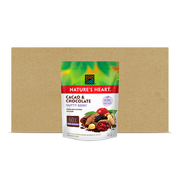 Caja Snack Cacao y Chocolate NuttyBerry - Natures Heart - 10 Unidades - 60g