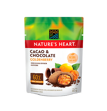 Natures Heart Cacao y Chocolate Goldenberry Snack Bolsa 60g