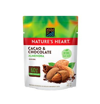 Natures Heart Cacao y Chocolate Almendra Snack Bolsa 60g