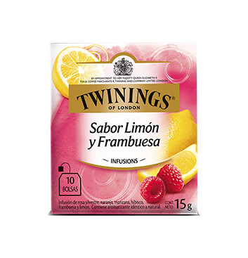 Té Limón y Frambuesa - Twinings - 15g/10 sobres