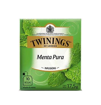 Té Menta Pura - Twinings - 17.5g/10 sobres