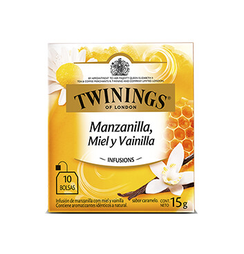 Té Manzanilla Miel y Vainilla - Twinings - 15g/10 sobres